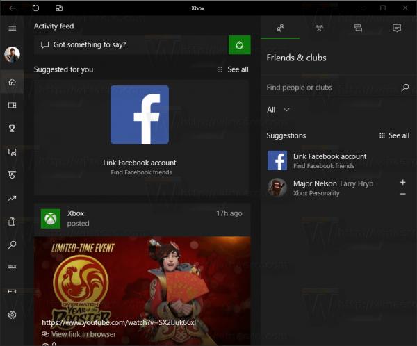 Xbox App UI