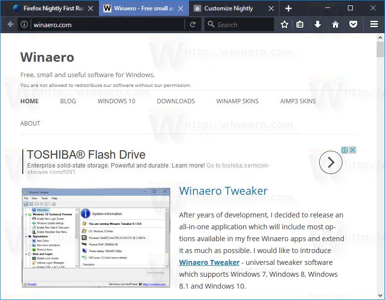 Compact Dark Firefox Theme