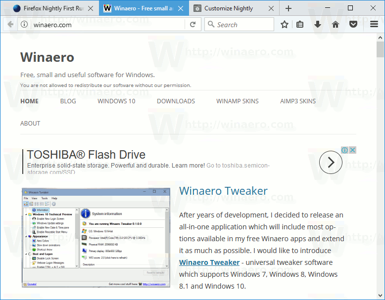 Compact Light Firefox Theme