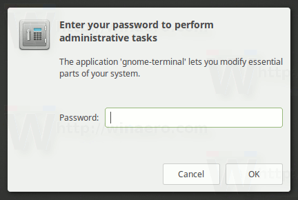 Gksudo Confirmation Prompt