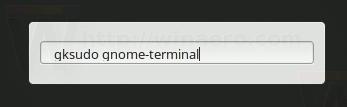 Gksudo Gnome Terminal