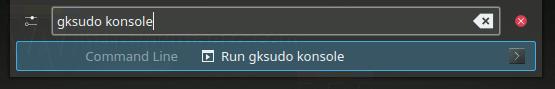 Gksudo Konsole