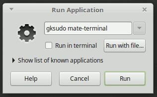 Gksudo Mate Terminal