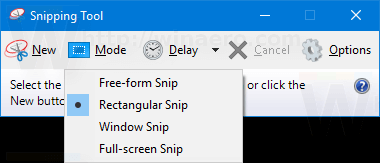 Updated Snipping Tool in Windows 10 Build 15014