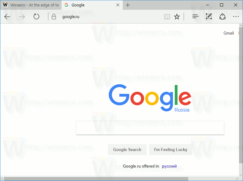Open Google In Edge