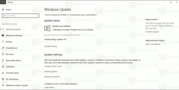 15031 Getting Update