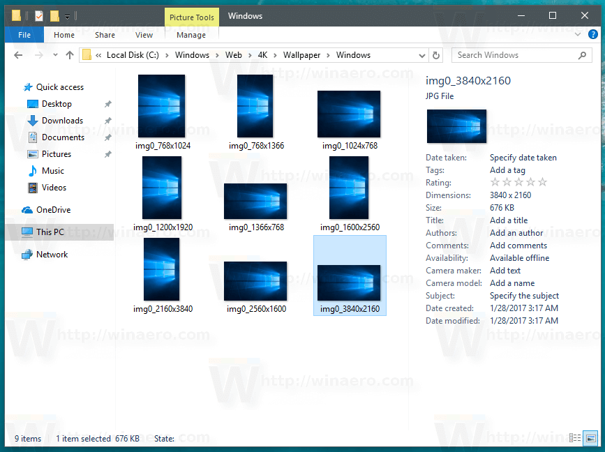 Where are Windows 10 Default Wallpapers Stored