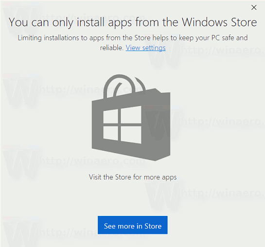 Allow Apps From The Store Only