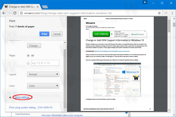 Chrome Preview Preview More Settings