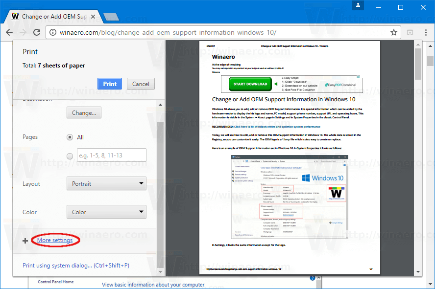 How To Enable Print Scaling in Google Chrome