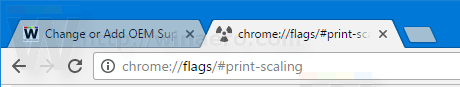 Chrome Type Print Scaling In The Address Bar