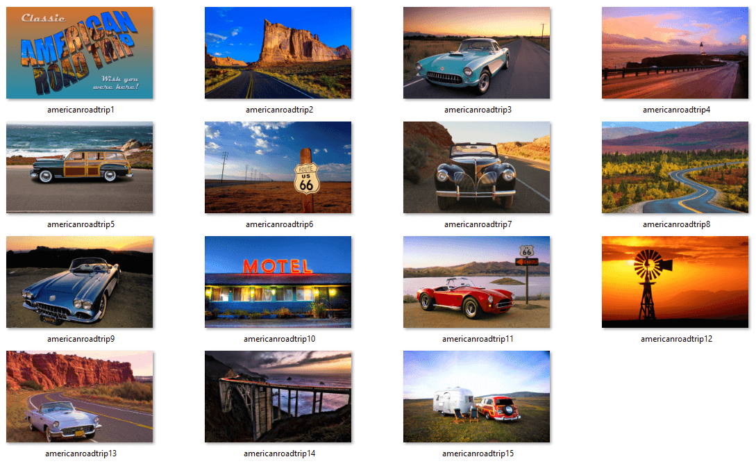 Classical American Road Trip Theme Wallpapers