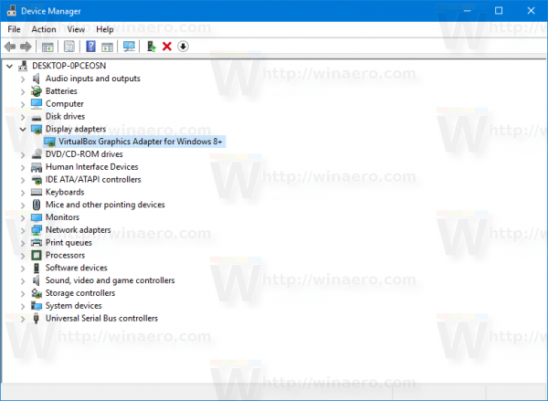 Device Manager Expand A Group
