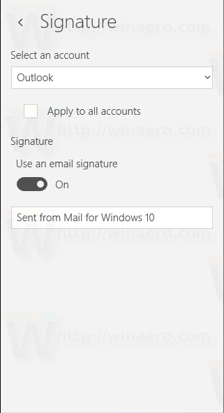 Mail Signature Page