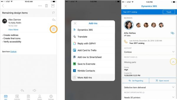 Outlook IOS Add Ins