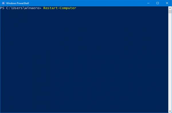 PowerShell Restart Computer