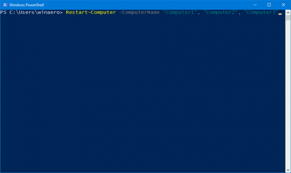 PowerShell Restart Several Computers