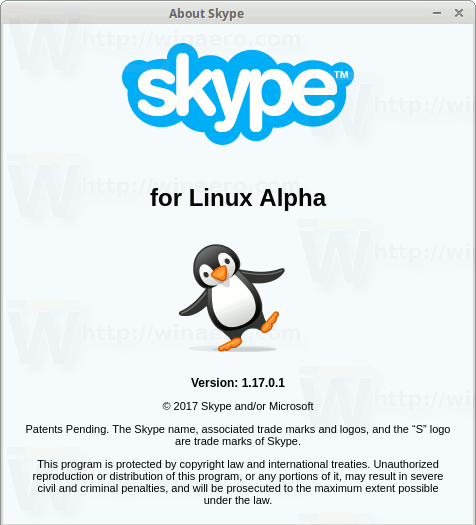 Skype For Linux 1.17