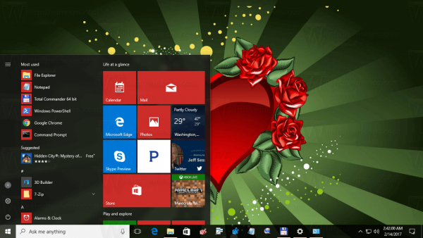 Valentine Day Theme For Windows 10 2