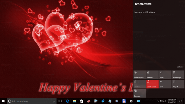 Valentine Day Theme For Windows 10
