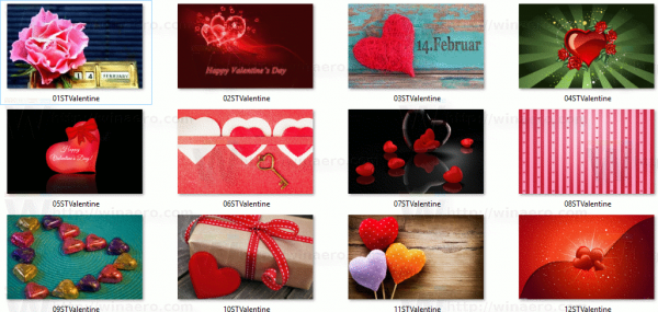 Valentine Day Theme For Windows 10 Wallpapers