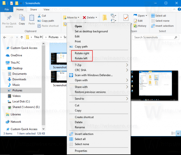 Windows 10 Rotate Image With Context Menu