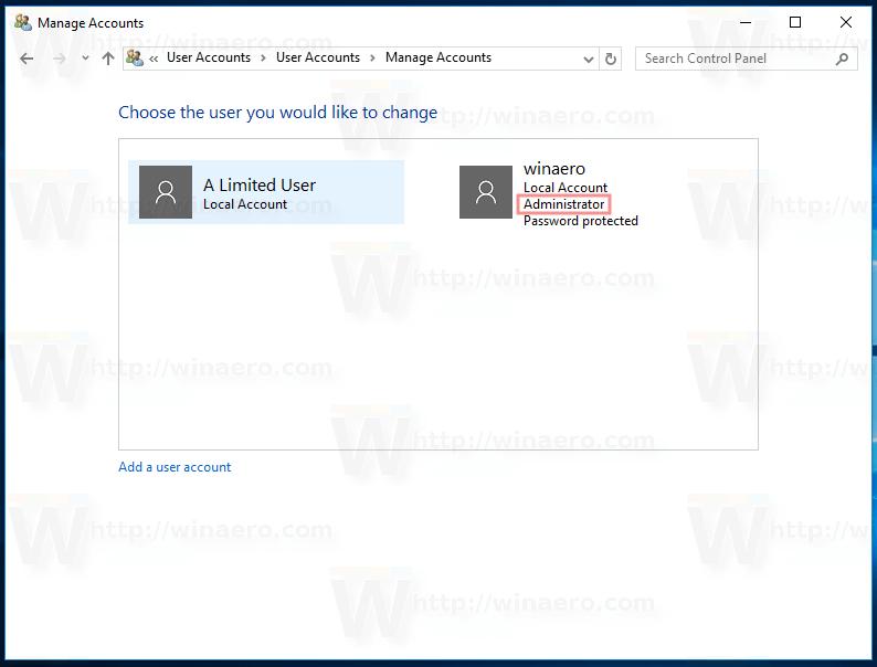 Windows 10 Administrator
