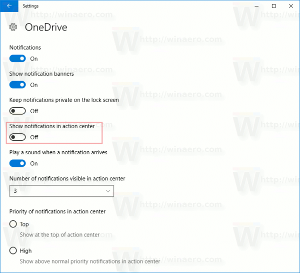 Windows 10 Disable Action Center Notifications Per App