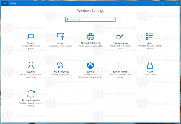 Windows 10 Settings 15025