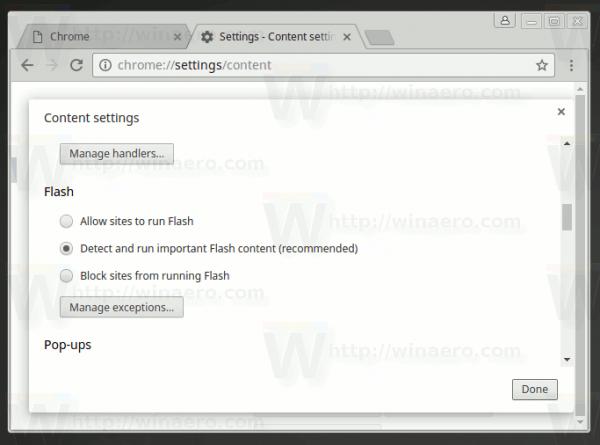 Chrome Flash Options