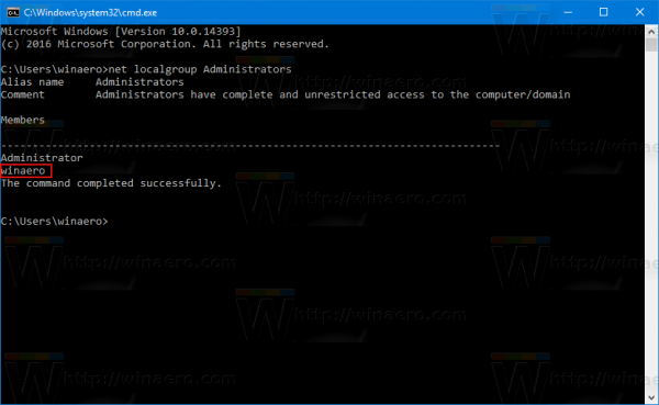Command Prompt List Of Administrators