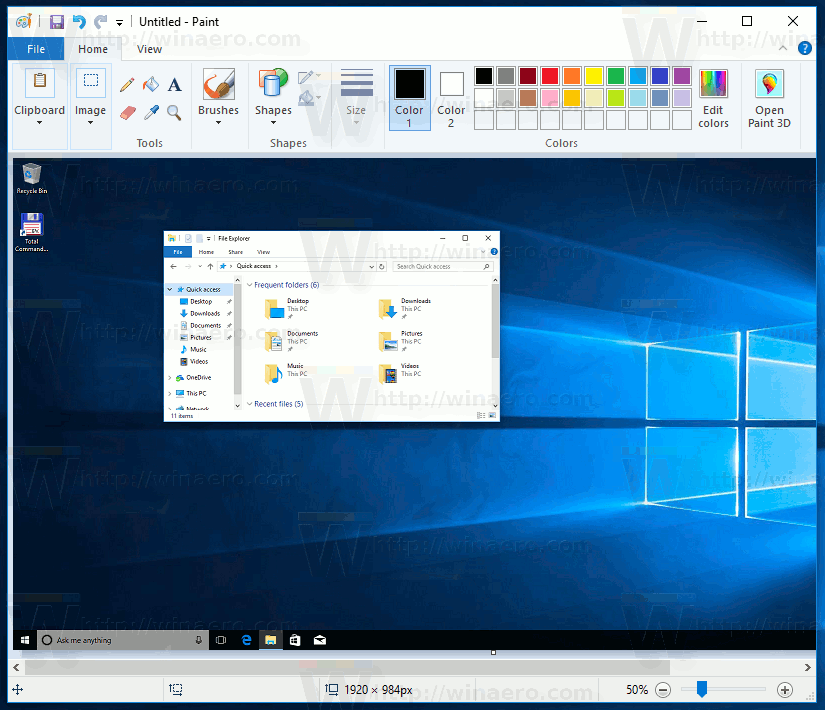Paste A Screenshot In Paint