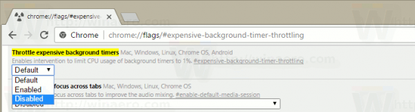 Disable Tab Throttling In Google Chrome