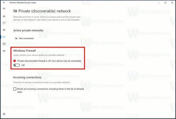 Disable Windows Firewall In Windows 10