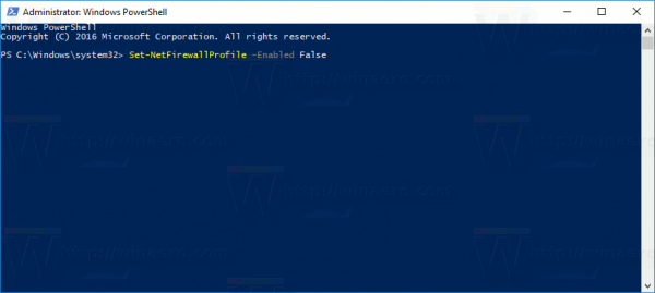 Disable Windows Firewall In Windows 10 In Powershell