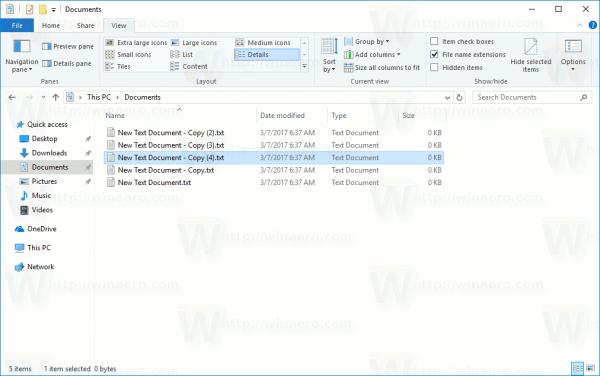 File Explorer Show File Extensions