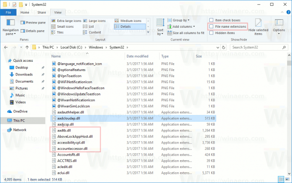 File Explorer Some Extensions Always Visible