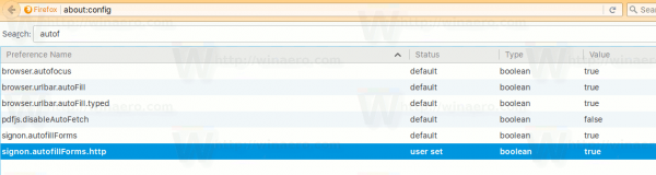 Firefox Enable Http Form Autofilling