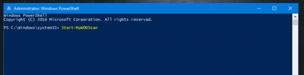 Run An Offline Scan With Windows Defender With PowerShell