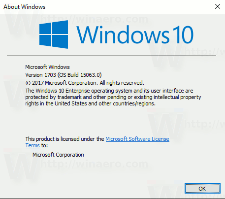 Windows 10 Build 15063