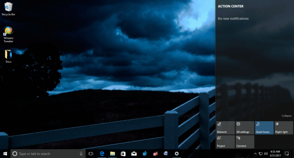 Windows 10 Dark Skies Theme 1