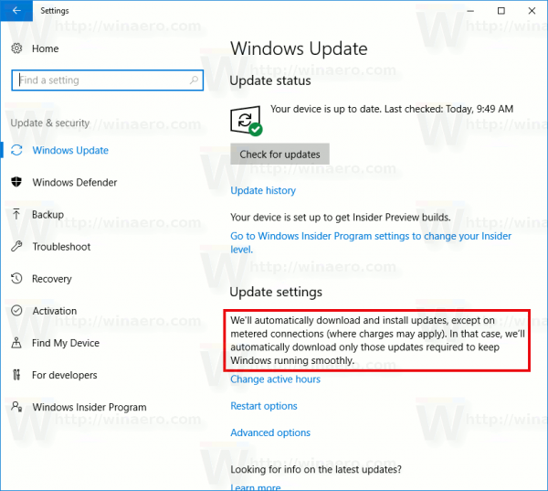 Windows 10 Install Updates Over Metered Connection