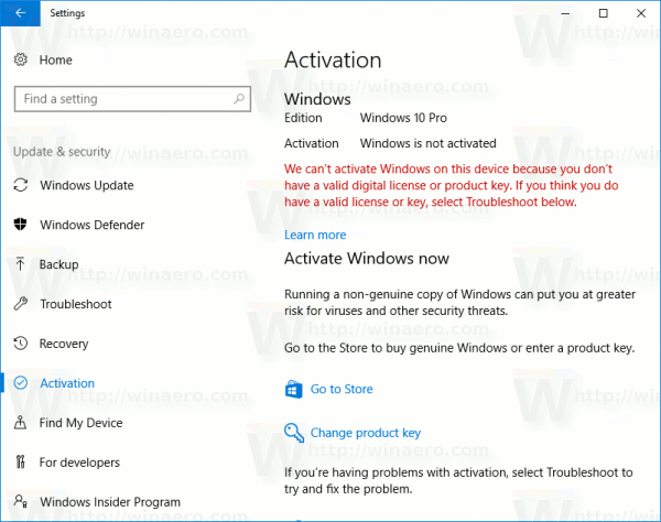 windows 10 not activated fix