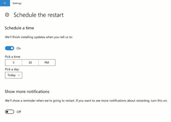 Windows Update Schedule