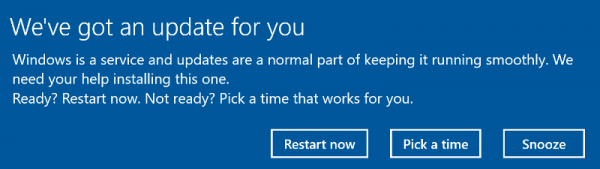 Windows Update Snooze