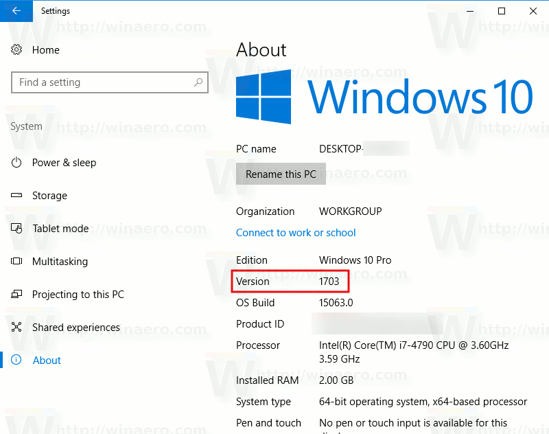 how to find your windows version