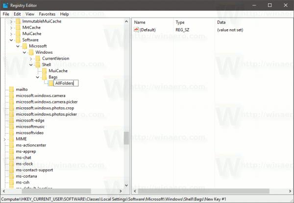 Create New Key AllFolders 2