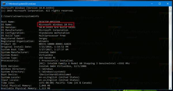Find Windows 10 Edition In Cmd