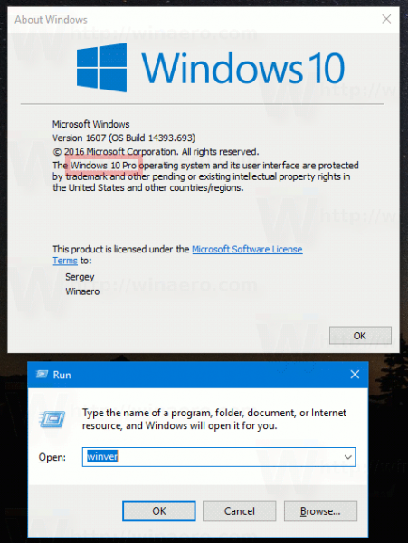Find Windows 10 Edition In Winver