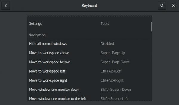 Gnome Keyboard Shortcuts